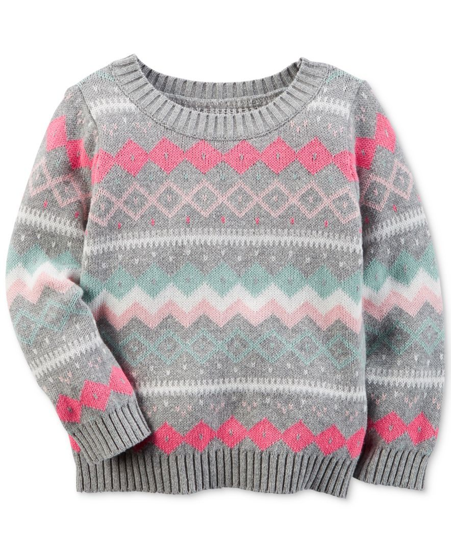 Carter\u0027s Fair Isle Sweater, Little Girls (2,6X)