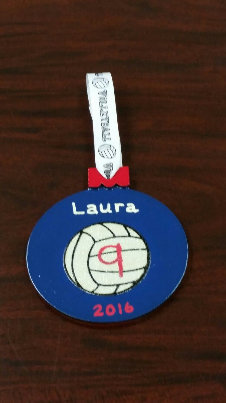 I Made Volleyball Ornaments Using A Wooden Ornament From