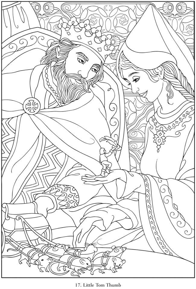 dover coloring book famous fairy tales  google search