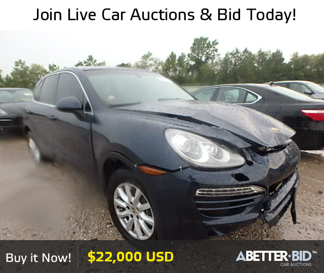 Salvage 2012 PORSCHE CAYENNE For Sale