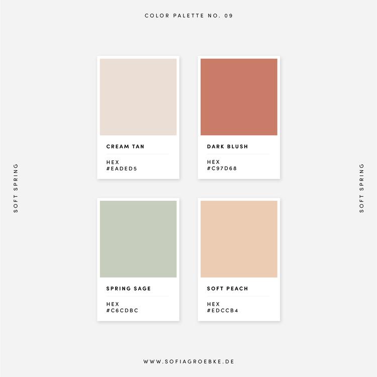 Farbpalette Frühling – Color Palette Spring / Farbkombinationen