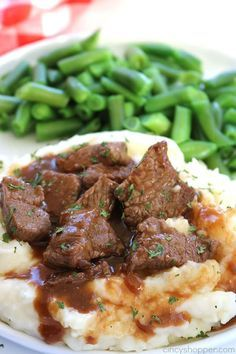 Photo of Simple Beef Tips with Gravy