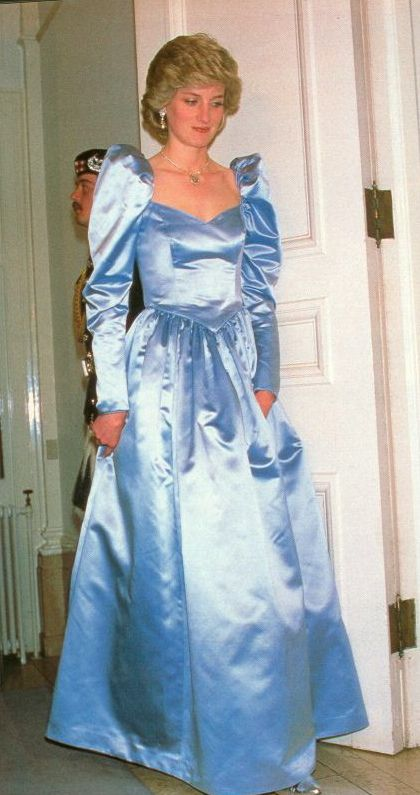 Princess Diana - ooh, those shoulders on the dress. She made even those look good. The  clothing we wore during the  1980's.........with all due respect,  what were we thinking.........