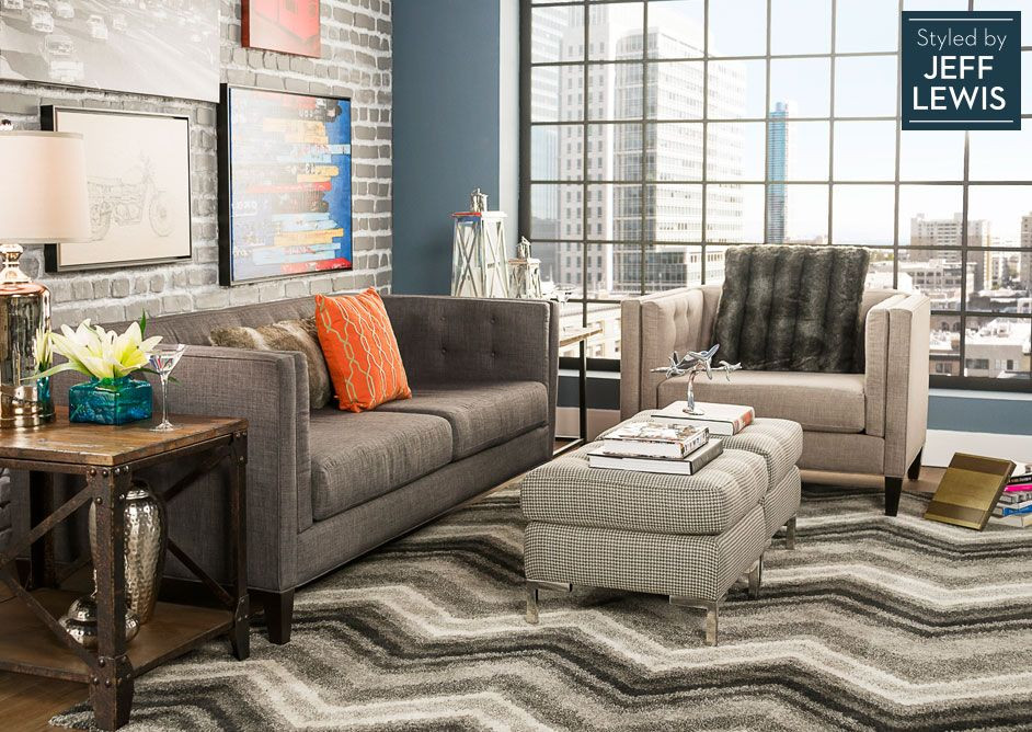 Charming Living Spaces: Lofty Living Styled By Jeff Lewis (den Ideas)