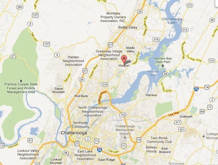 MAP OF HIXSON HIXSON TENNESSEE 37343 Pinterest