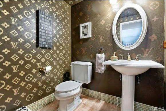 Inside a Rather LabelConscious Louis Vuitton Bathroom