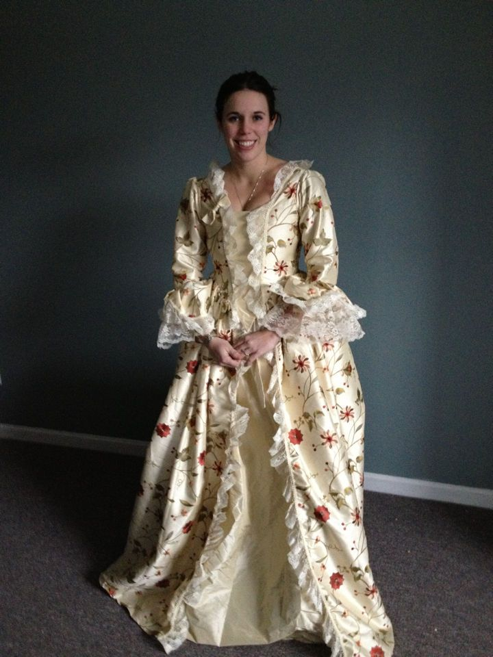 Marie Antoinette dress gown DAR costume colonial made to ...