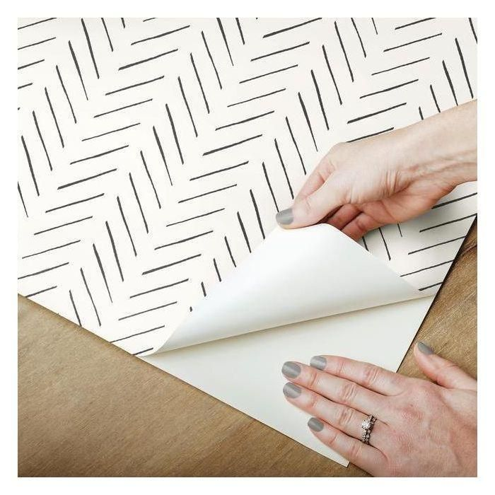 Pick Up Sticks Peel Stick Wallpaper In Black And White By Joanna Gai Peel And Stick Wallpaper Stick On Wallpaper Peel And Stick Shiplap