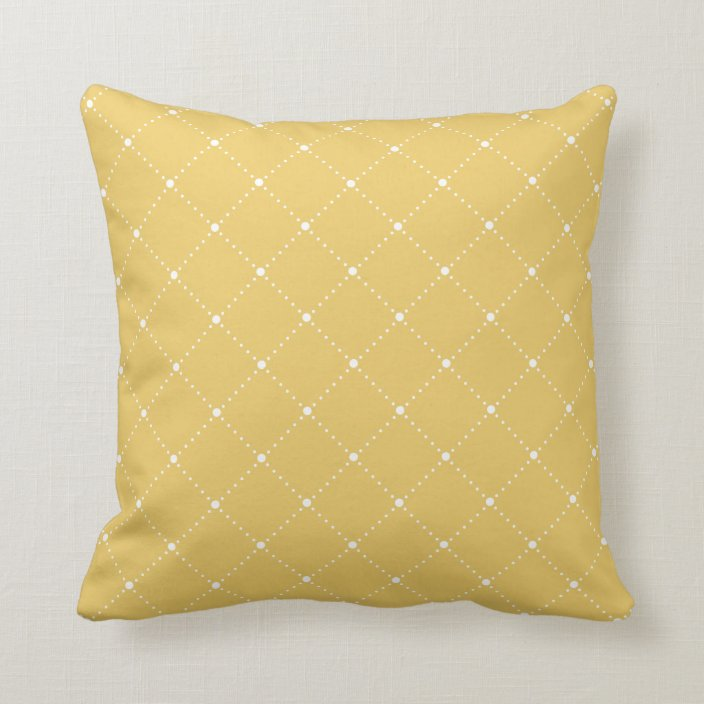Mustard Yellow Diagonal Dotted Lines Pattern Throw Pillow Zazzle Com Throw Pillows Patterned Throw Pillows Pillows