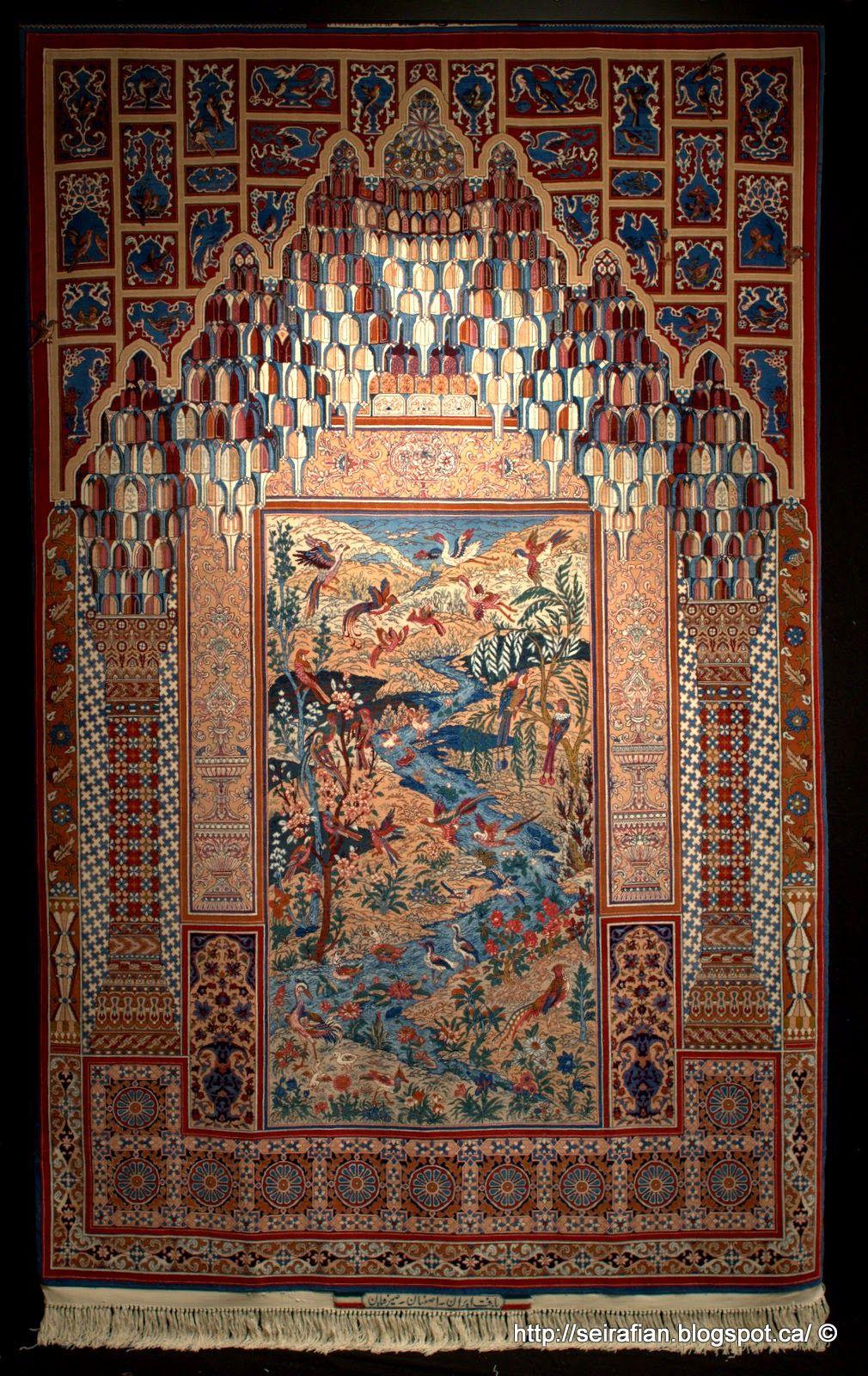 A Pictorial Masterpiece Rug By Mohammad Seirafian Isfahan Iran Jpg 1 010 1 600 Pixels Alfombras Persas Alfombras Disenos De Unas
