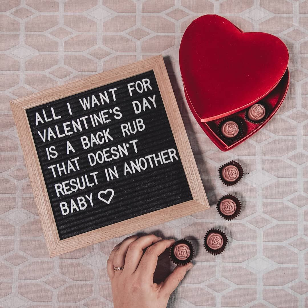 Valentine S Day All I Want For Valentine S Day Is A Back Rub That Doesn T Result In Another Baby Quote Minnie Mouse Earrings Baby Quotes Valentines