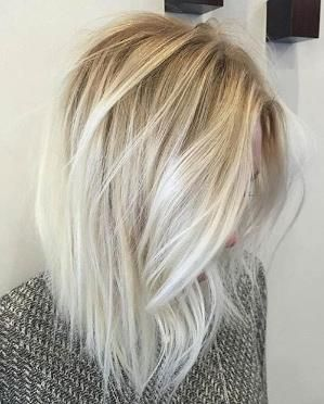 Ice Blonde Balayage Long Bob Lob By Abbyy Bob ξανθά μαλλιά