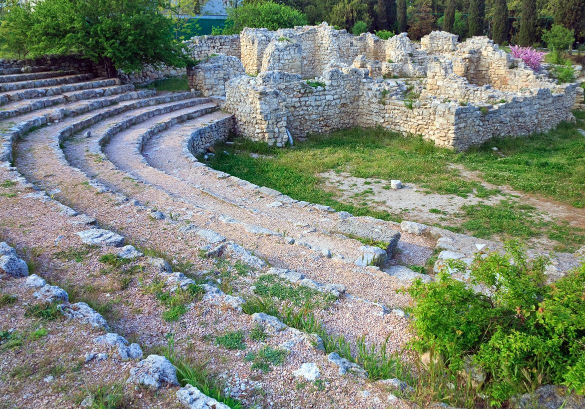 The openair theatre is quite small by Athens standards