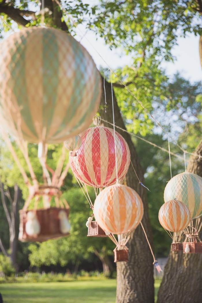 Hot Air Balloon Up Up & Away First Birthday Party Diy