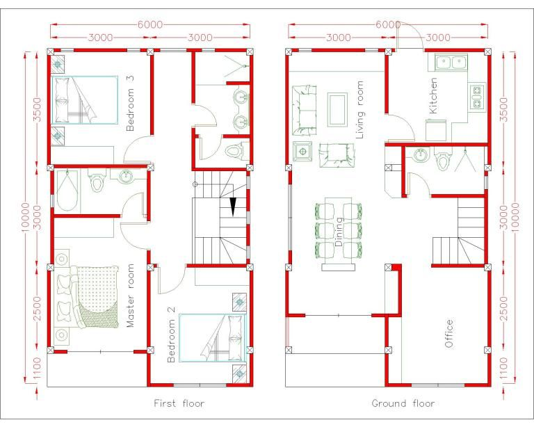 Elegant Modern Two Storey With Four Bedrooms Ulric Home Simple House Design Home Design Plan House Plans