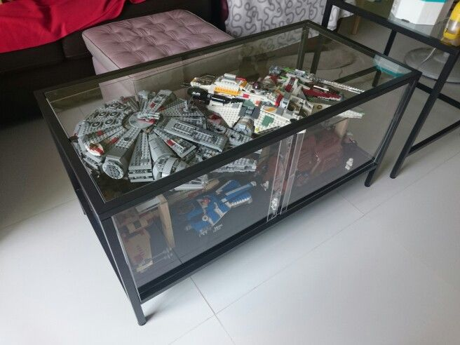 dyi display coffee table from ikea all about lego pinterest display coffee and lego. Black Bedroom Furniture Sets. Home Design Ideas