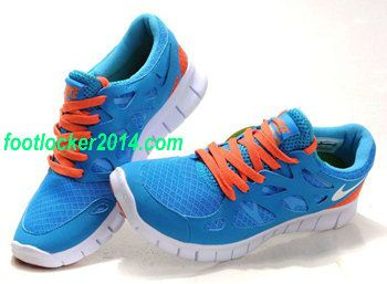 Nike Free Run 2s Dark Blue Orange Shoes