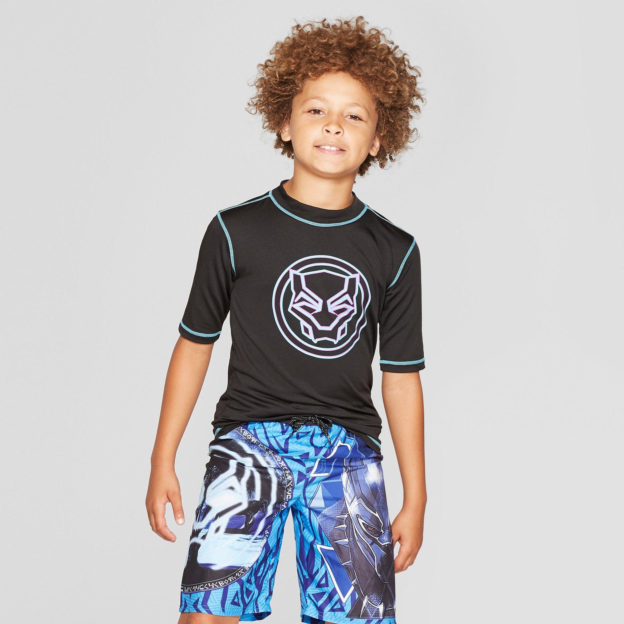 083bdfaac4 Boys' Black Panther Rash Guard - XS | Products | Rash guard, Black ...