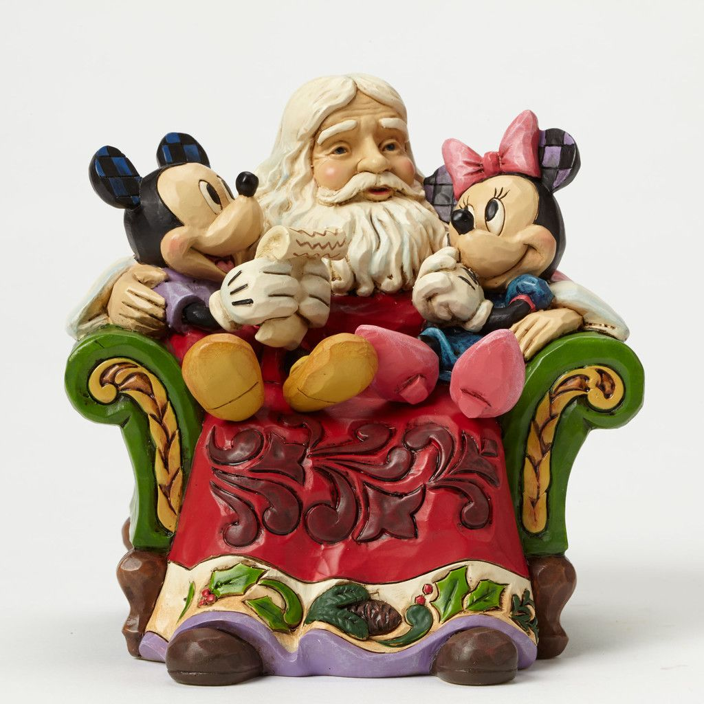 Jim Shore Disney Traditions Santa with Mickey & Minnie Mouse 4046017 NIB 2015 Christmas