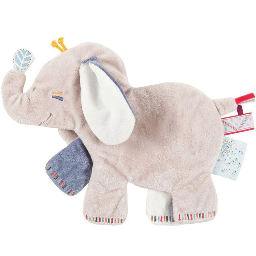 Le doudou plat platso Bao l\'éléphant de la collection Bao et Wapi de ...