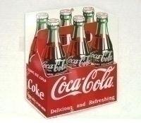 Retro Sign Enamelled Metal - Coca-Cola Carton