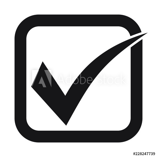 Heck Icon Checkmark Vector Approved Symbol Ok Icon Check Mobile App Design App Design Pictogram