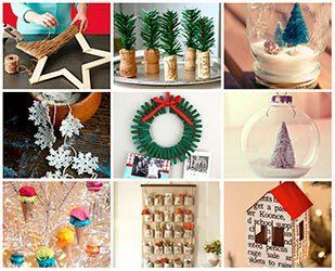 Manualidades y adornos para navidad hazlo tu mism - Cosas navidenas para hacer en casa faciles ...