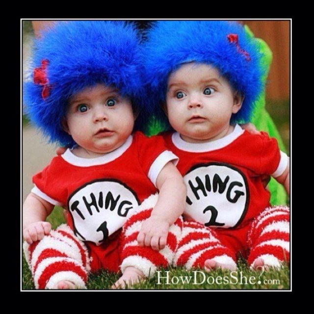 Lol! Maybe my son and his cousin could do this sometime? What a cute - twin boy halloween costume ideas