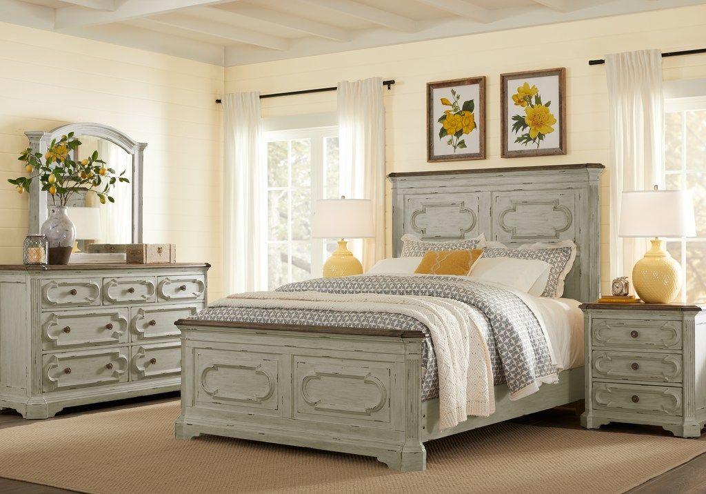 lindenwood gray 5 pc king panel bedroom  white bedroom