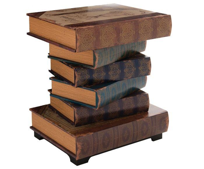 Mesa auxiliar en madera de abedul Books - multicolor Mesitas