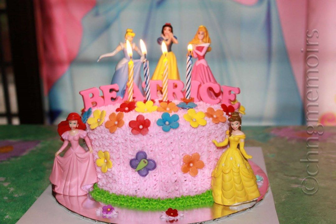 Image of Princess Decorations Birthday Cake Ideas Girls birthday