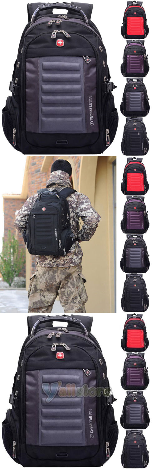 Backpacks Bags and Briefcases 52357  Swiss Gear Men 15 Laptop Backpack  Computer Notebook Outdoor School af0b6721c8b53