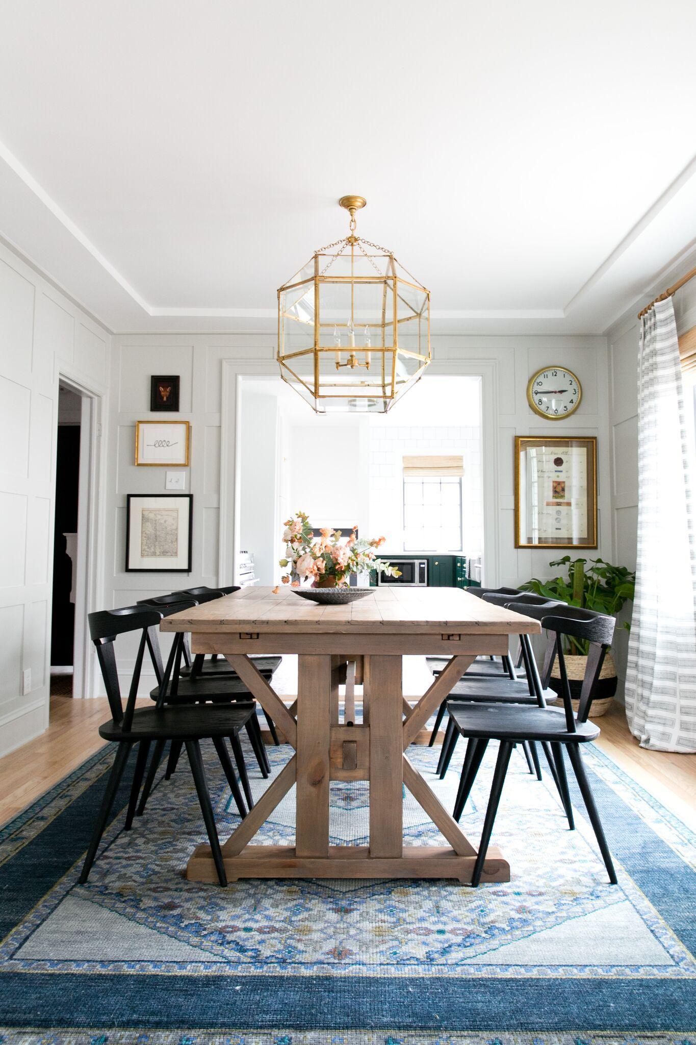 Denver Tudor Reveal Eclectic Dining Room Farmhouse Dining Room