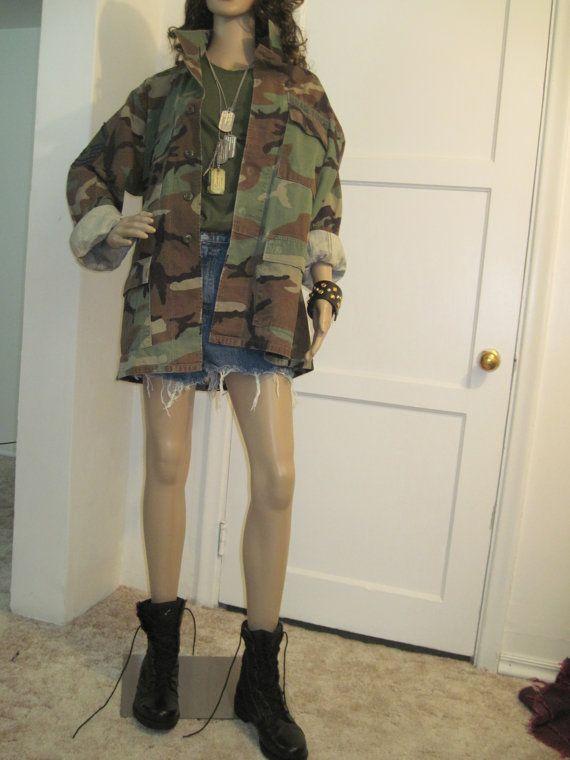 f41082a5bcd73 Vintage Camouflage Jacket/Camo Jacket/Military Jacket// military camouflage  heavy duty shirt size S