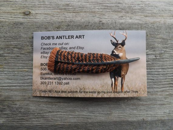 Feather deer antler carving turkey hat pin art by