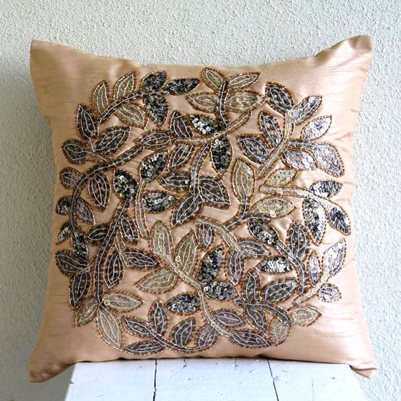 handmade beige pillow covers