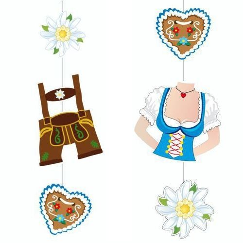 oktoberfest dekoration h ngedekoration 75cm trachtenhose dirndl deko bayern deko. Black Bedroom Furniture Sets. Home Design Ideas