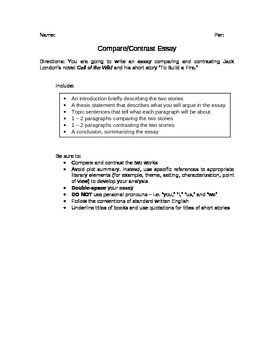 compare two jobs essay