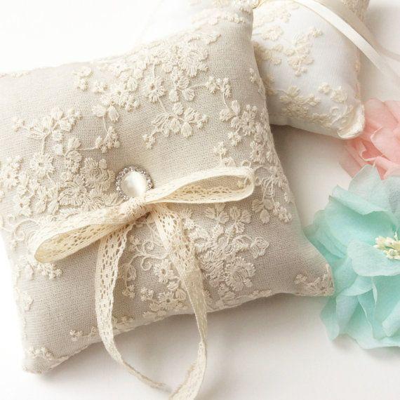 small wedding pillow Wedding pillow satin ring bearer pillow dusty rose wedding decoration satin and lace wedding decoration