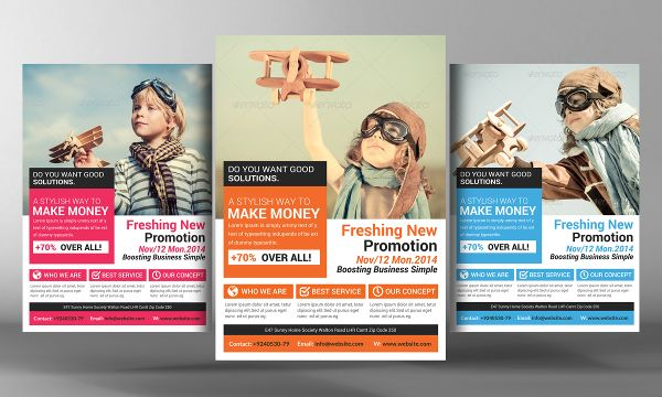 I like the titles in boxes at bottom marketing flyer recruiters