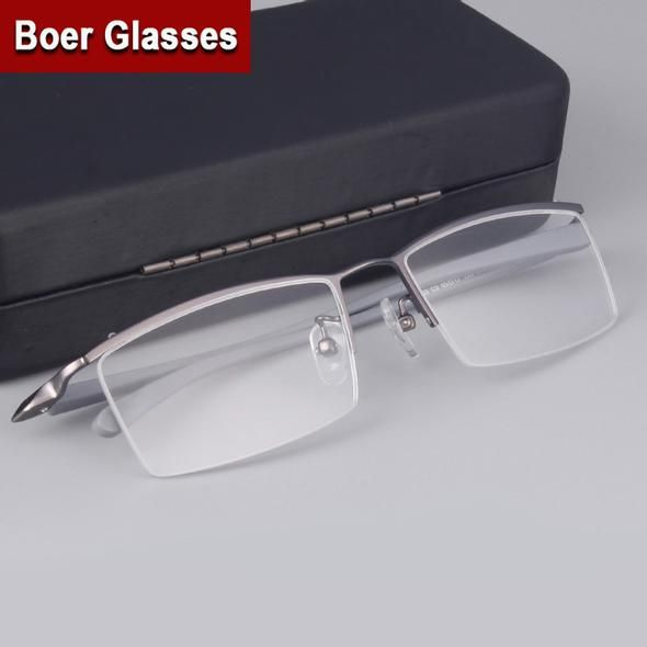 347c31d0f75 Fashion Brand Men s Half rimless Eyeglasses Titanium Glasses prescription  eyewear RXable 4003 size 55-17