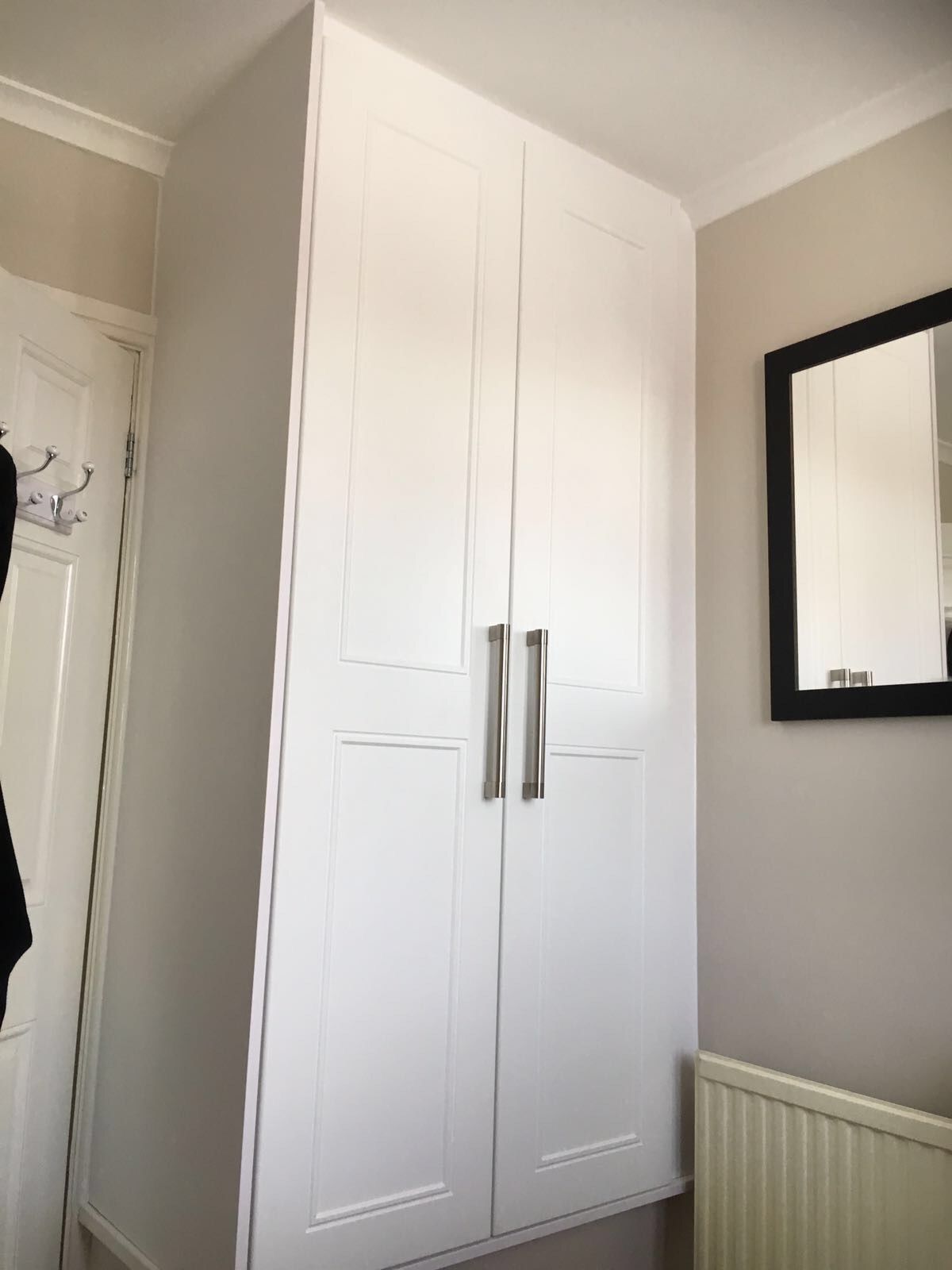 Ascot White Doors With Key Bar Handles Above A Stairbox Grey Bedroom Decor Bulkhead Bedroom Stair Box In Bedroom