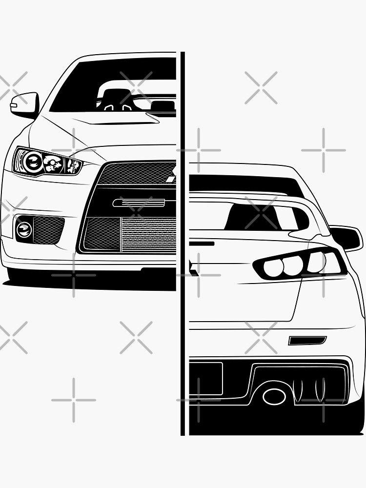 Pegatina Mitsubishi Lancer Evo X Best Shirt Design De Carworld Redbubble Stickers Para Autos Mitsubishi Lancer Cosas De Coche