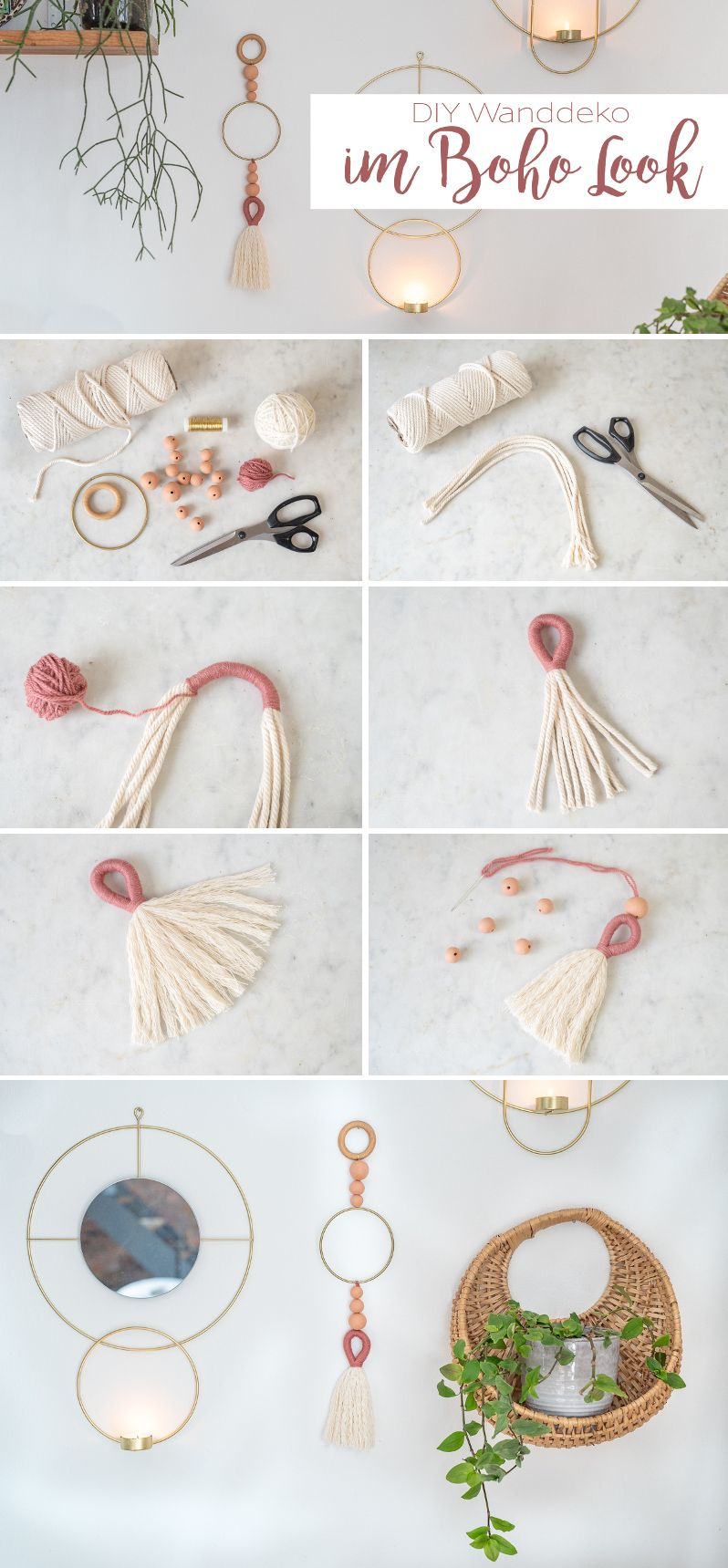 Photo of DIY – DIY Boho Wanddekoration – Leelah Loves