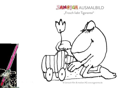 Janosch Ausmalbilder zum Ausdrucken mit der Tigerente ...