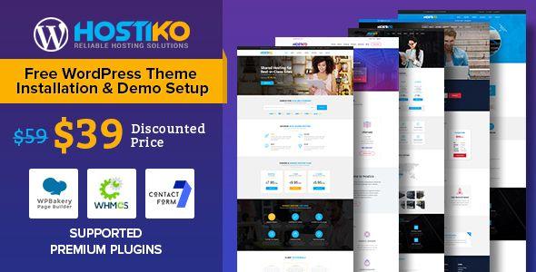 Hostiko WordPress WHMCS Hosting Theme Template Download   WordPress ...