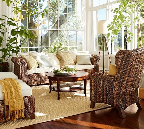 Seagrass Wingback Armchair | Sunroom furniture ...