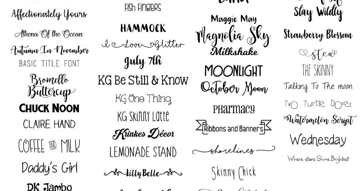 My Favorite Fonts & How to Use them (Cheat Sheets