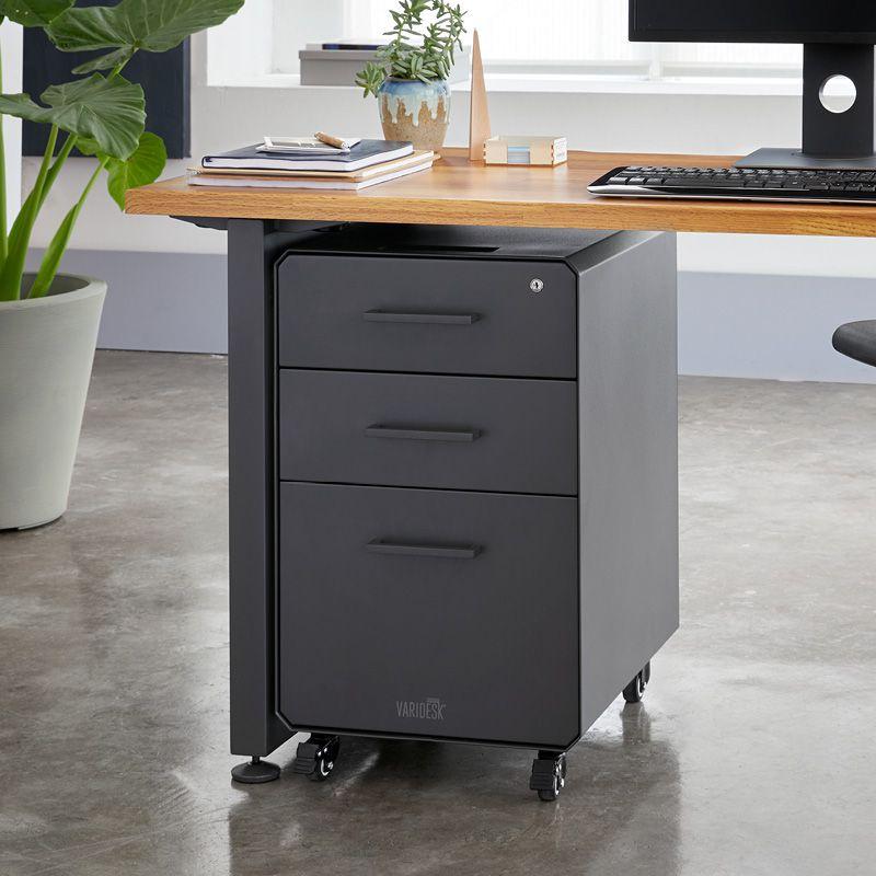 File Cabinet Standing Desk Accessories Vari Filing Cabinet Under Desk Storage Storage