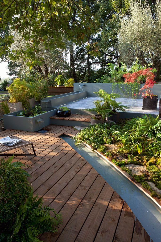 La Terrasse En Bois Belle Et Chaleureuse Terrasse Jardin Jardins Et Relooking De Patio